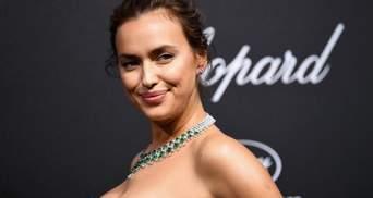 Ірина Шейк у золотій металевій сукні розважалась на Ібіці: фото