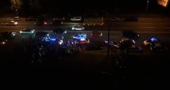 ДТП на Днепровской набережной в Киеве: первые видео с места резонансной аварии