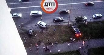 ДТП на Днепровской набережной в Киеве: появилось видео, как водитель BMW ездил по городу
