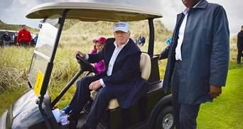 Чим займався Трамп під час похорону Маккейна