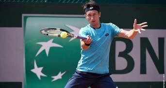 Стаховський не зміг подолати перше коло на престижному турнірі в Франції