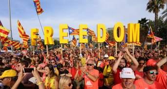 В Барселоне около миллиона человек вышли на митинг за независимость Каталонии: фото и видео