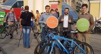 """Флешмоб """"Велосипедом на работу"""" в Киеве: полезно, экономно, безопасно"""