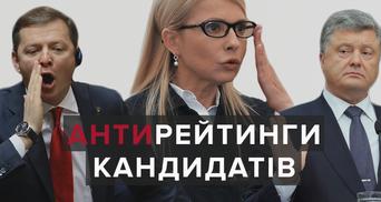 За кого українці не проголосували б на виборах президента: антирейтинг політиків