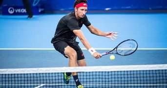 Стаховский в напряженной борьбе вышел в четвертьфинал турнира серии ATP в Орлеане