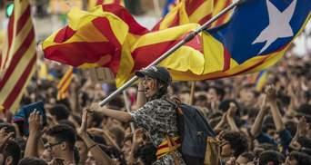 Протесты в годовщину референдума в Каталонии: активисты заблокировали авто- и железную дороги