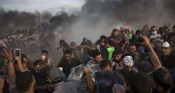 На границе Сектора Газа снова горячо: во время столкновений ранили 400 палестинцев