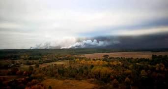 Пожежу на військових складах біля Ічні повністю загасили