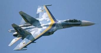 В Украине упал военный самолет Су-27: есть жертвы