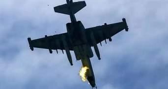 Падіння літака Су-27: очевидці зняли на фото момент після аварії