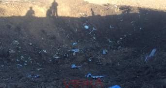 Аварія літака Су-27: місцеві жителі показали фото та відео з місця падіння