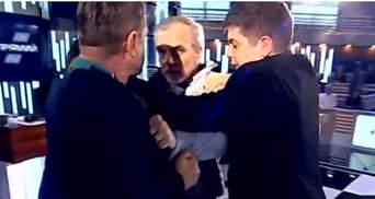 Нардеп Мусій і активіст Шерембей влаштували жорстку бійку в ефірі: відео
