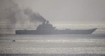 """Аварія в """"Адміралом Кузнєцовим"""" у Росії: авіаносець зазнав значних пошкоджень"""