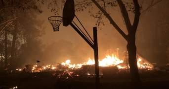 Калифорнию охватили масштабные пожары, есть жертвы: фото и видео