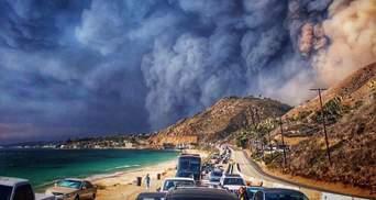 Пожар в Калифорнии: Леди Гагу, Беллу Хадид и других звезд срочно эвакуировали