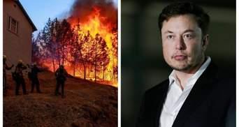 Страшна пожежа в Каліфорнії: Ілон Маск пропонує допомогу