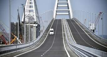 Во время строительства Крымского моста произошла серьезная авария: фото