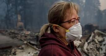 """После лесных пожаров в Калифорнии, воздух  там стал """"худшим в мире"""""""