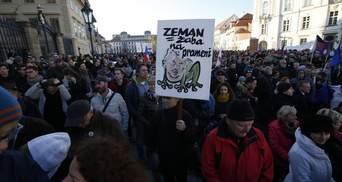 Багатотисячні протести проти президента та прем'єра Чехії: вражаючий фоторепортаж