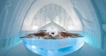 У Швеції відкрився готель, повністю збудований із льоду: неймовірні фото зсередини