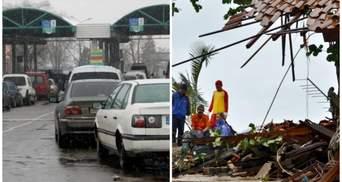 Головні новини 23 грудня: шалені черги на кордоні із Польщею і смертоносне цунамі в Індонезії