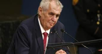 """Президент Чехії відзначився обурливою заявою про """"звеличення воєнних злочинців"""" в Україні"""