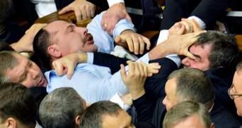 Год депутатских драк в Раде: кто пострадал больше всего