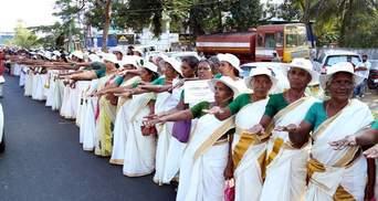 В Индии женщины устроили грандиозную акцию в поддержку гендерного равенства: фото