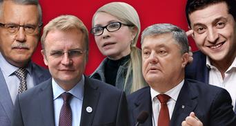 Список кандидатов в Президенты Украины: кто подал документы в ЦИК