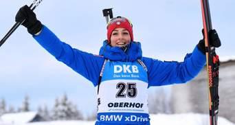 Украинские биатлонистки провалили персьют, золото снова завоевала итальянка Виттоцци