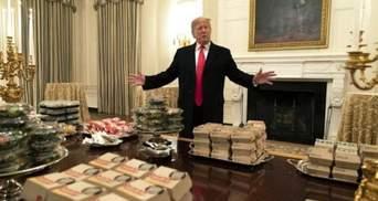 Через брак персоналу Трамп замовив на прийом у Білому домі фастфуд