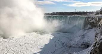 У США вкрився кригою Ніагарський водоспад: фото та відео