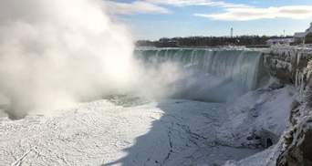 В США покрылся льдом Ниагарский водопад: фото и видео