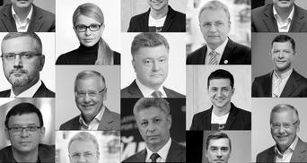 Які емоції в українців викликають кандидати в президенти: ексклюзивний рейтинг