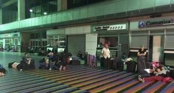 Міжнародний аеропорт Каракаса без світла: люди не можуть покинути місто