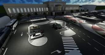 Как после реконструкции изменится площадь перед вокзалом в Тернополе: сравнение