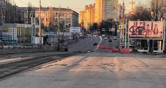 Як демонтують багатостраждальний Шулявський міст у Києві: перші фото