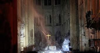 Пожар в Соборе Парижской Богоматери ликвидировали