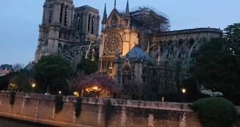 Як виглядає Собор Паризької Богоматері після пожежі: фото і відео