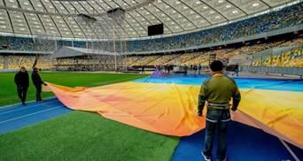 """Як """"Олімпійський"""" готується до дебатів між Порошенком і Зеленським: фото, відео"""