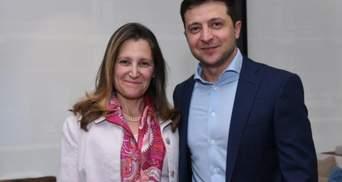 Зеленський зустрівся з головою МЗС Канади: про що говорили політики