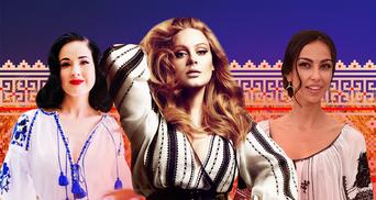 От голливудских красавиц до королевских особ: какие звезды примерили вышиванку