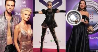 Кто из украинских артистов засветился на вручении премий в Москве: фото и видео