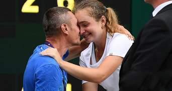 Отец Снигур прокомментировал историческую победу дочери на Уимблдоне