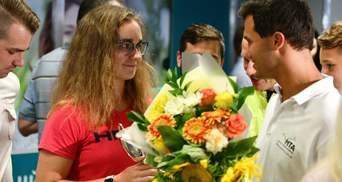 Украинскую чемпионку Уимблдона Снигур тепло встретили в Киеве: фото