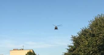 Вертолет на округе, где проигрывает Пашинский, уже улетел из Коростеня: видео