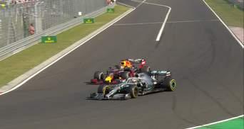 Хемілтон виграв гран-прі Угорщини, обігнавши Ферстаппена за чотири кола до кінця гонки