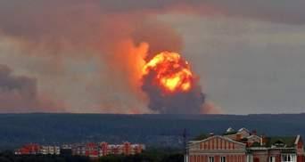 Вибухи на військових складах в Росії: загинула людина