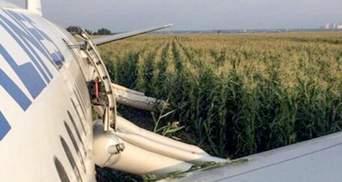 Аварійна посадка літака Москва – Сімферополь в кукурудзяному полі: що відомо – фото, відео