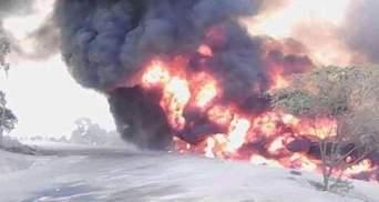 В Уганде взорвался бензовоз: 10 человек погибли